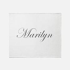 Marilyn-Edw gray 170 Throw Blanket
