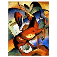 Franz Marc - Horse and Donkey Poster
