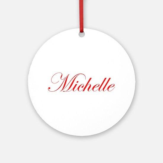 Michelle-Edw red 170 Ornament (Round)