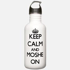 Keep Calm and Moshe ON Water Bottle