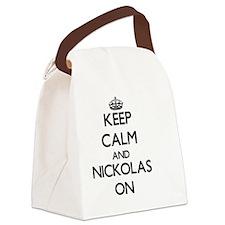 Keep Calm and Nickolas ON Canvas Lunch Bag