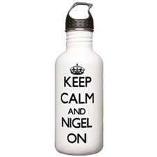 Keep Calm and Nigel ON Water Bottle