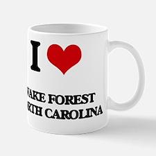I love Wake Forest North Carolina Mug
