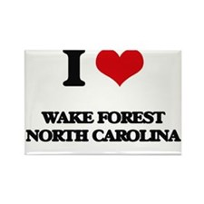 I love Wake Forest North Carolina Magnets