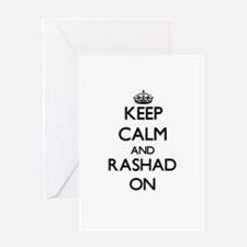 Keep Calm and Rashad ON Greeting Cards