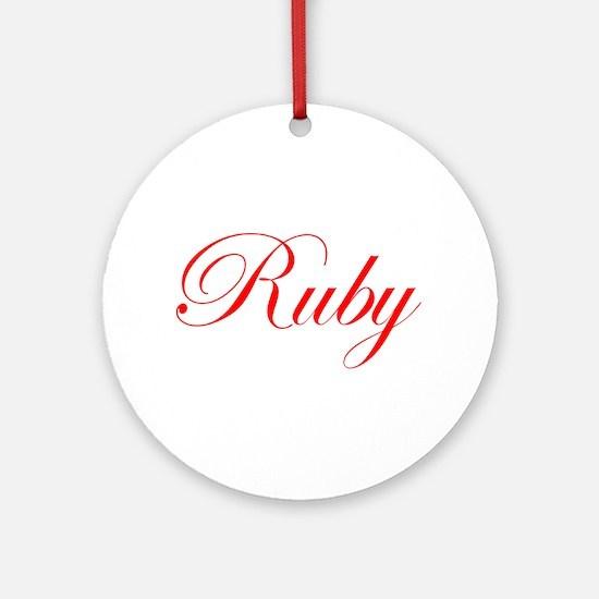 Ruby-Edw red 170 Ornament (Round)