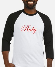 Ruby-Edw red 170 Baseball Jersey