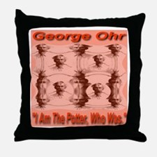 """George Ohr """"I Am The Potter, Throw Pillow"""
