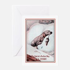 Vintage Puppy Art Greeting Card