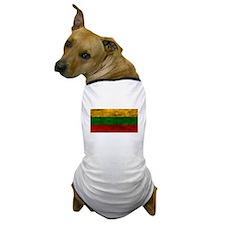 Distressed Lithuania Flag Dog T-Shirt
