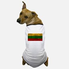 Distressed Lithuania Flag Dog T-Shirt