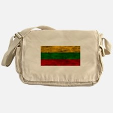 Distressed Lithuania Flag Messenger Bag
