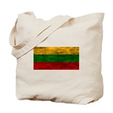 Distressed Lithuania Flag Tote Bag