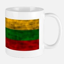 Distressed Lithuania Flag Mugs
