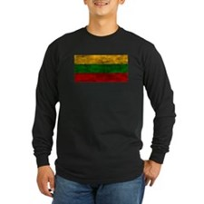 Distressed Lithuania Flag Long Sleeve T-Shirt