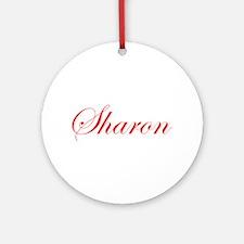Sharon-Edw red 170 Ornament (Round)