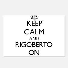 Keep Calm and Rigoberto O Postcards (Package of 8)