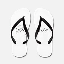 Stephanie-Edw gray 170 Flip Flops