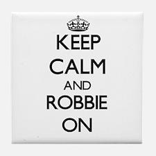 Keep Calm and Robbie ON Tile Coaster