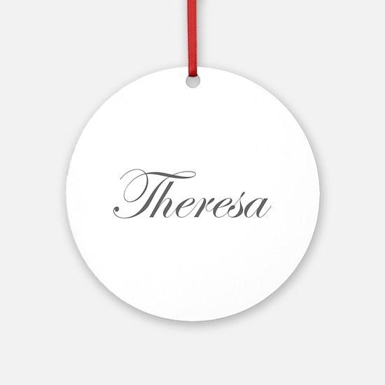 Theresa-Edw gray 170 Ornament (Round)