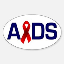 Aids with a Ribbon Oval Decal