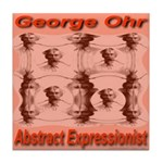 George Ohr Abstract Expressio Tile Coaster