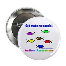 God Made Me Special Button