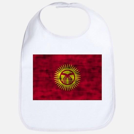 Distressed Kyrgyzstan Flag Bib