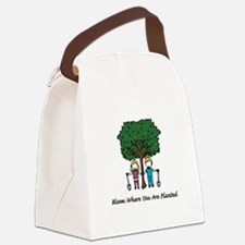 Bloom Where Planted Canvas Lunch Bag