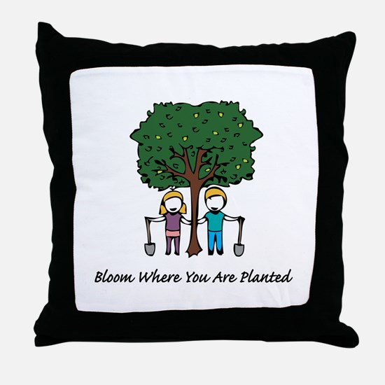 Bloom Where Planted Throw Pillow