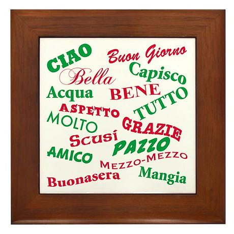 Italian Sayings Framed Tile