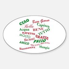Italian Sayings Oval Decal