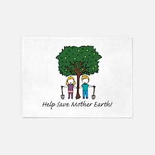 Help Mother Earth 5'x7'Area Rug