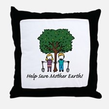 Help Mother Earth Throw Pillow