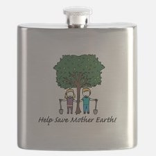 Help Mother Earth Flask