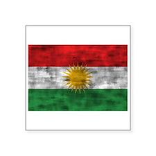 Distressed Kurdistan Flag Sticker