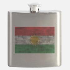 Distressed Kurdistan Flag Flask