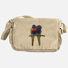 Rainbow lorikeets Messenger Bag