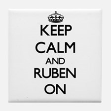 Keep Calm and Ruben ON Tile Coaster