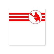 Baseball Catcher Stripes (Red) Sticker