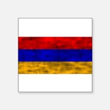 Distressed Armenia Flag Sticker