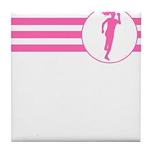 Runner Stripes (Pink) Tile Coaster