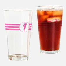 Runner Stripes (Pink) Drinking Glass