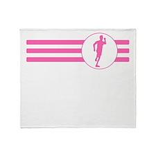 Runner Stripes (Pink) Throw Blanket