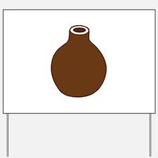 Brown Vase Yard Sign