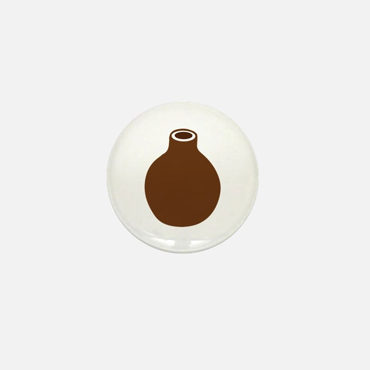 Brown Vase Mini Button