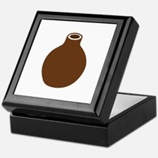 Brown Vase Keepsake Box