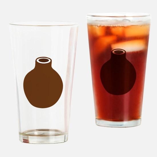 Brown Vase Drinking Glass
