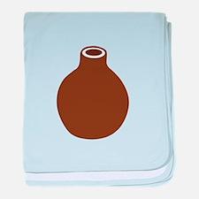 Brown Vase baby blanket