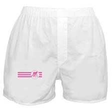 Runner Crouched Stripes (Pink) Boxer Shorts